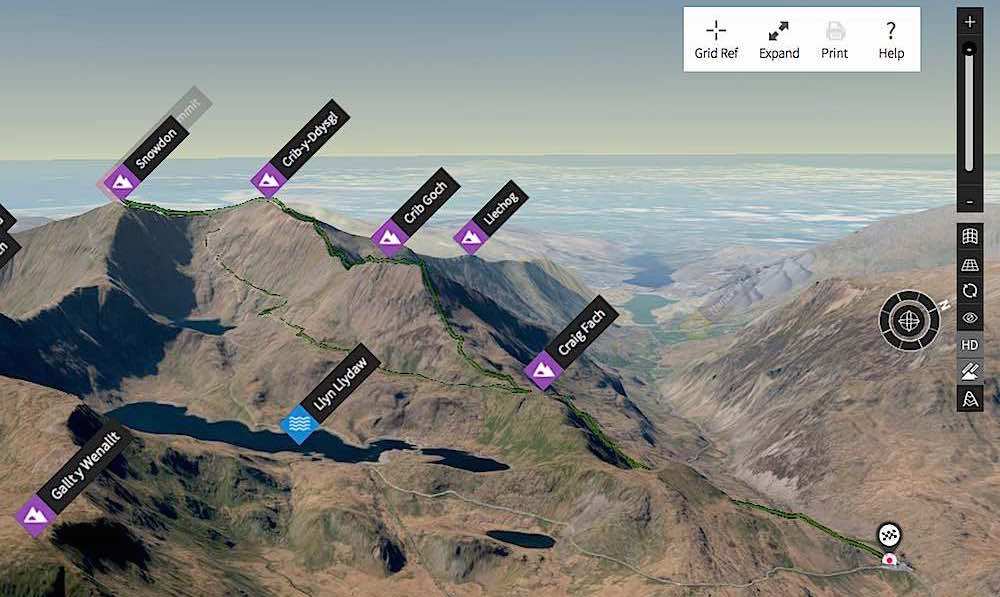 Crib Goch & Pyg Track Running Route | thefrozendivide