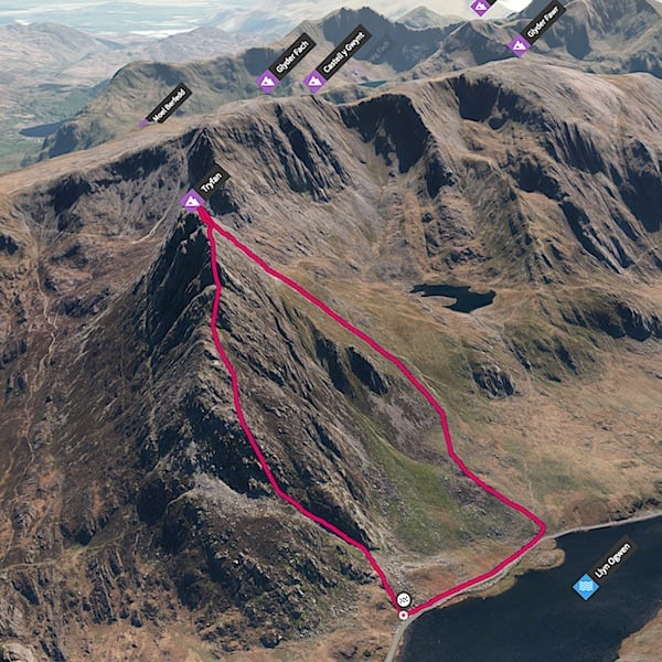 The Best Tryfan North Face Hiking Loop