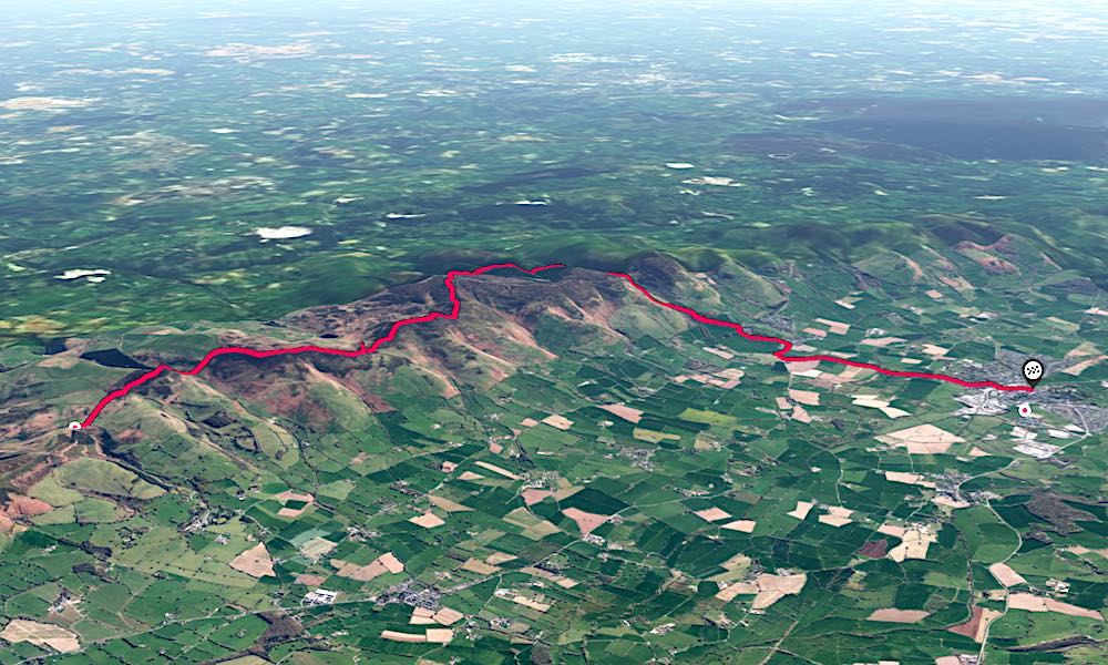 Offa's Dyke Ruthin A to B Trail