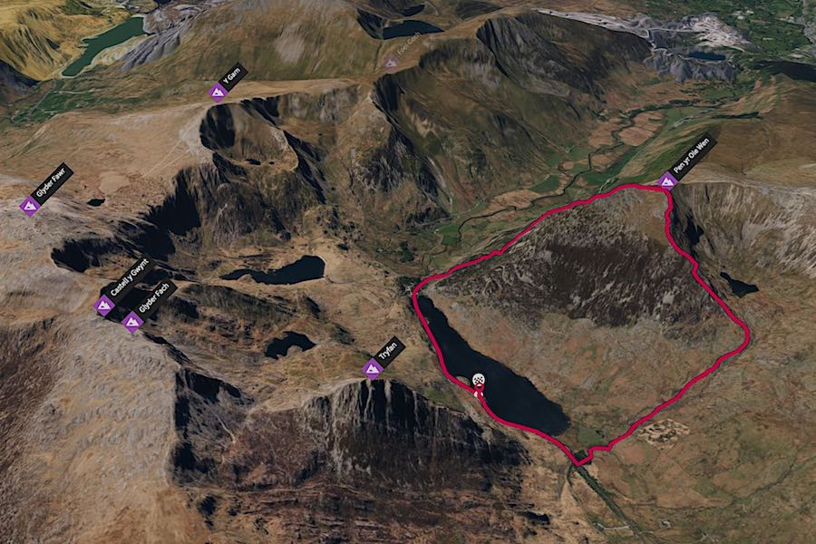 Pen Yr Ole Wen Running Loop | thefrozendivide