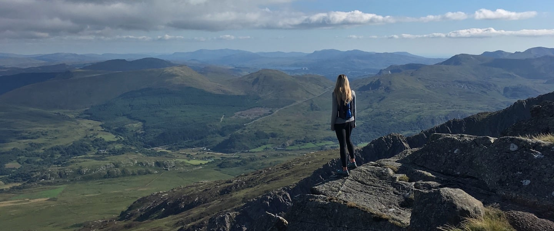 Moel Siabod Ridge Loop trail route for walking, hiking, running in Snowdonia