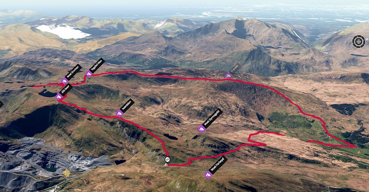 Allt Fawr Walking Route 3D Map | The Frozen Divide