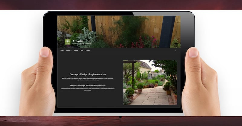 Wordpress Website Design | Arcadia Landscape Design | The Frozen Divide Ltd