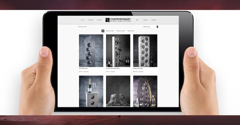 Wordpress Website Design | Contemporary Slate & Stone | The Frozen Divide Ltd