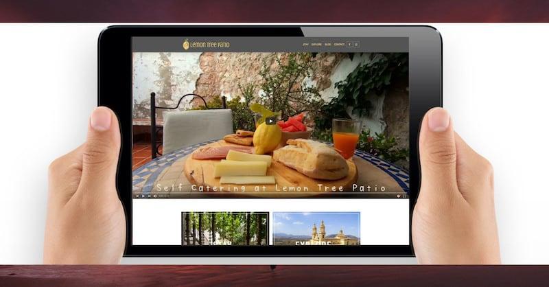 Wordpress Website Design | Lemon Tree Patio | The Frozen Divide Ltd