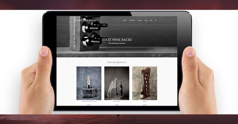 Wordpress Website Design | Slate Wine Racks | The Frozen Divide Ltd