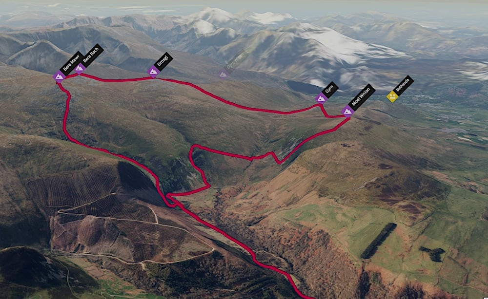 Aber Falls Peak Loop 3D Map