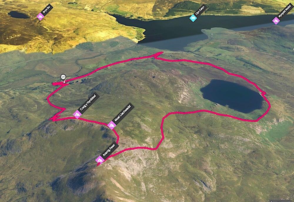 Arenig Fawr 3D Map