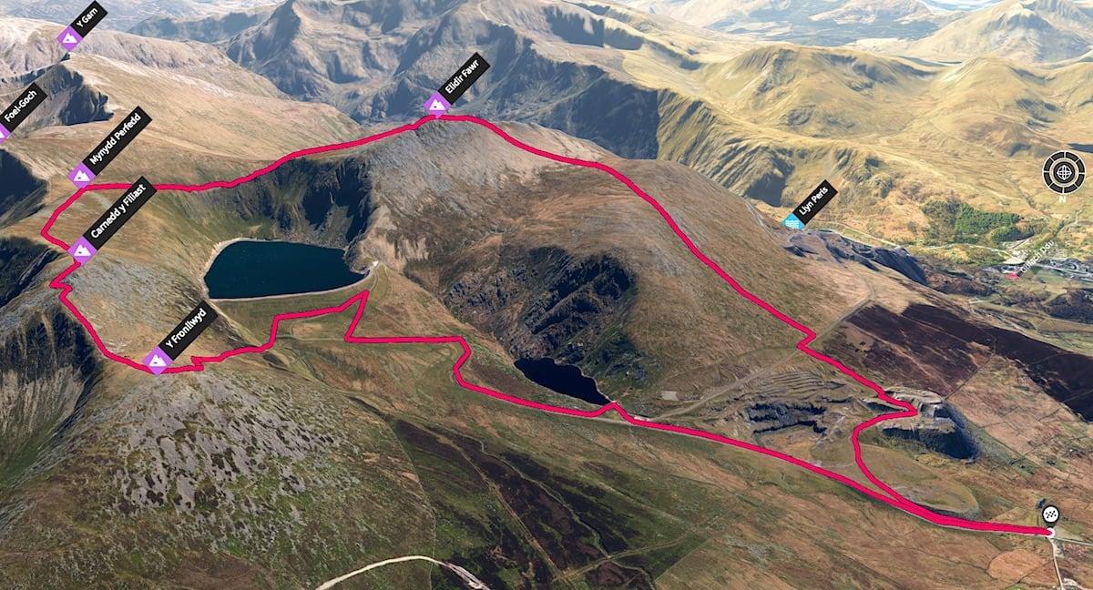Elidir Fawr Loop 3D Map   The Frozen Divide