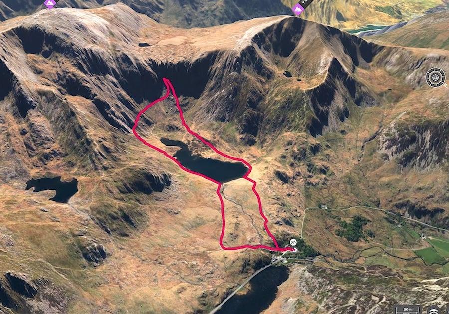 Llyn Idwal Loop 3D Map