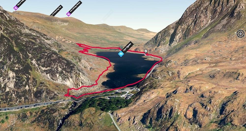 Llyn Ogwen Loop 3D Map