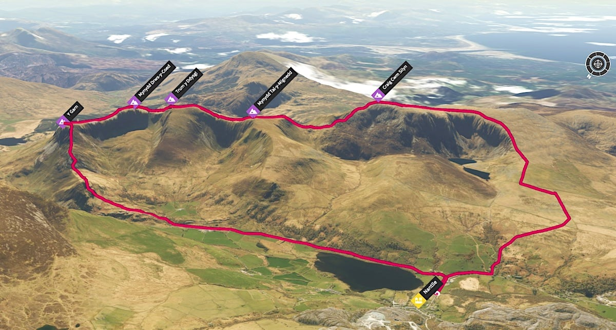 Nantlle Ridge 3D Map
