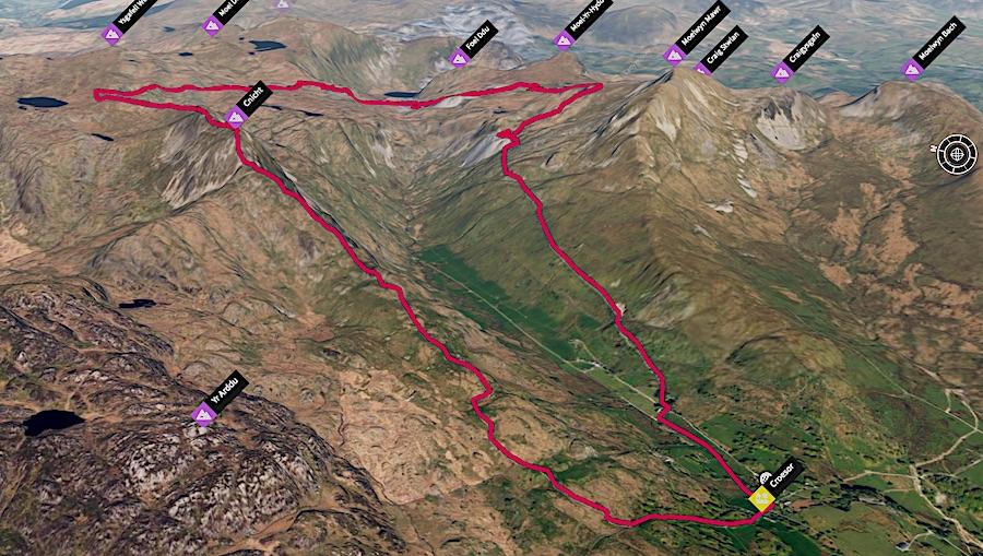 Cnicht Quarry Loop 3D Map