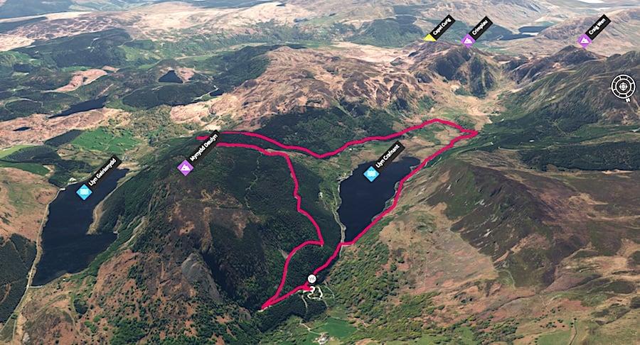 Llyn Crafnant Loop | Running & Hiking in Snowdonia National Park 3D Map